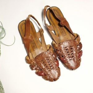 Vtg Leather Collection Huaraches Leather Sandals 6